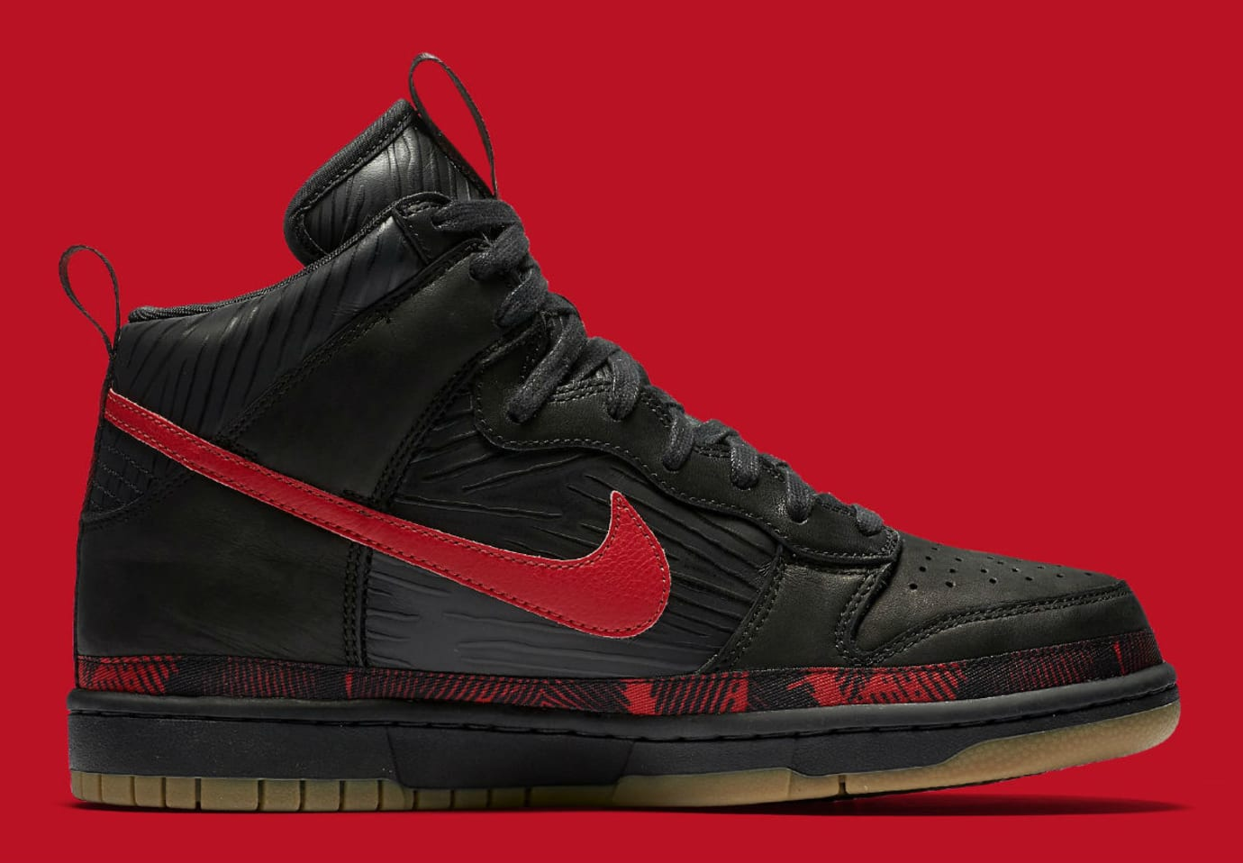 info for fa163 e647e Nike N7 Dunk High Black Red Release Date Medial AA1126-001