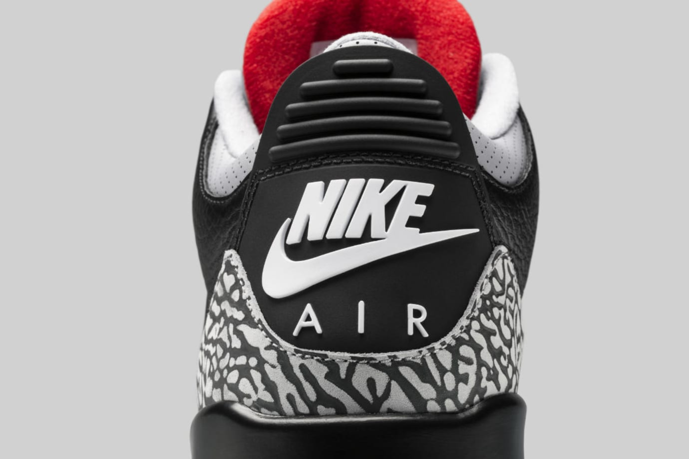 Air Jordan 3 III Black Cement Release Date 854262-001 Heel