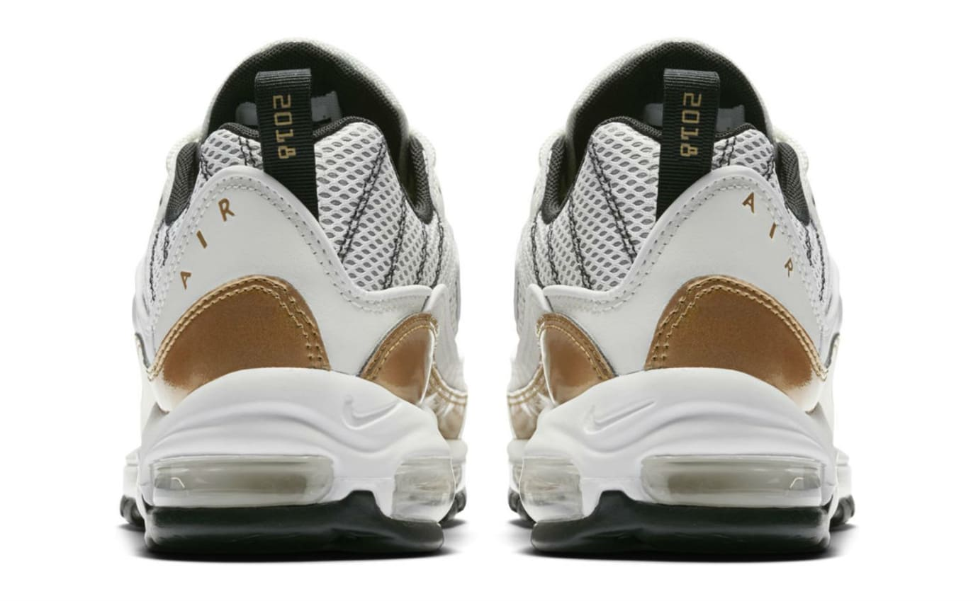 Nike Air Max 98 UK White Gold Release Date Heel