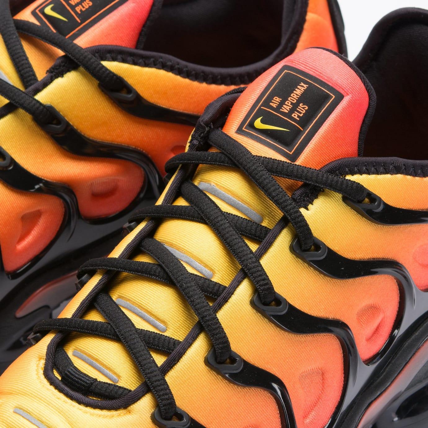 official photos 13695 871b4 Nike VaporMax Plus 'Sunset' Black/Total Orange Release Date ...