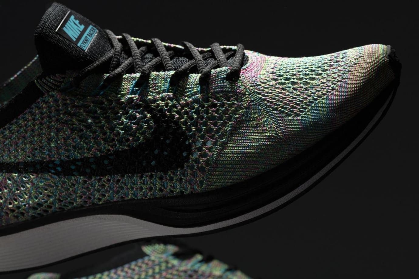 reputable site 67666 920ac Multicolor Nike Flyknit 2017 Toe