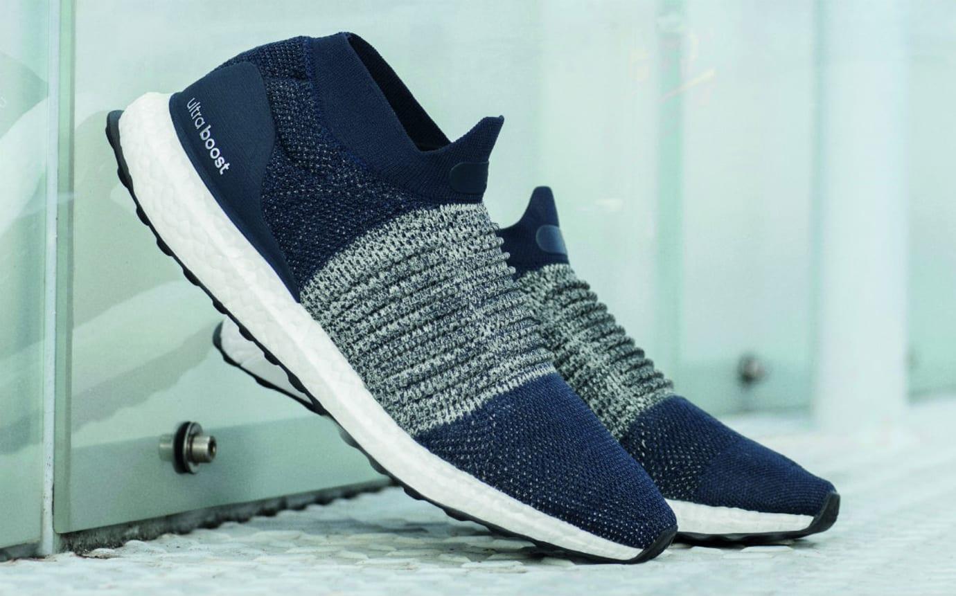 5932e88c94134 Adidas Ultra Boost Laceless Indigo Blue Release Date Toe