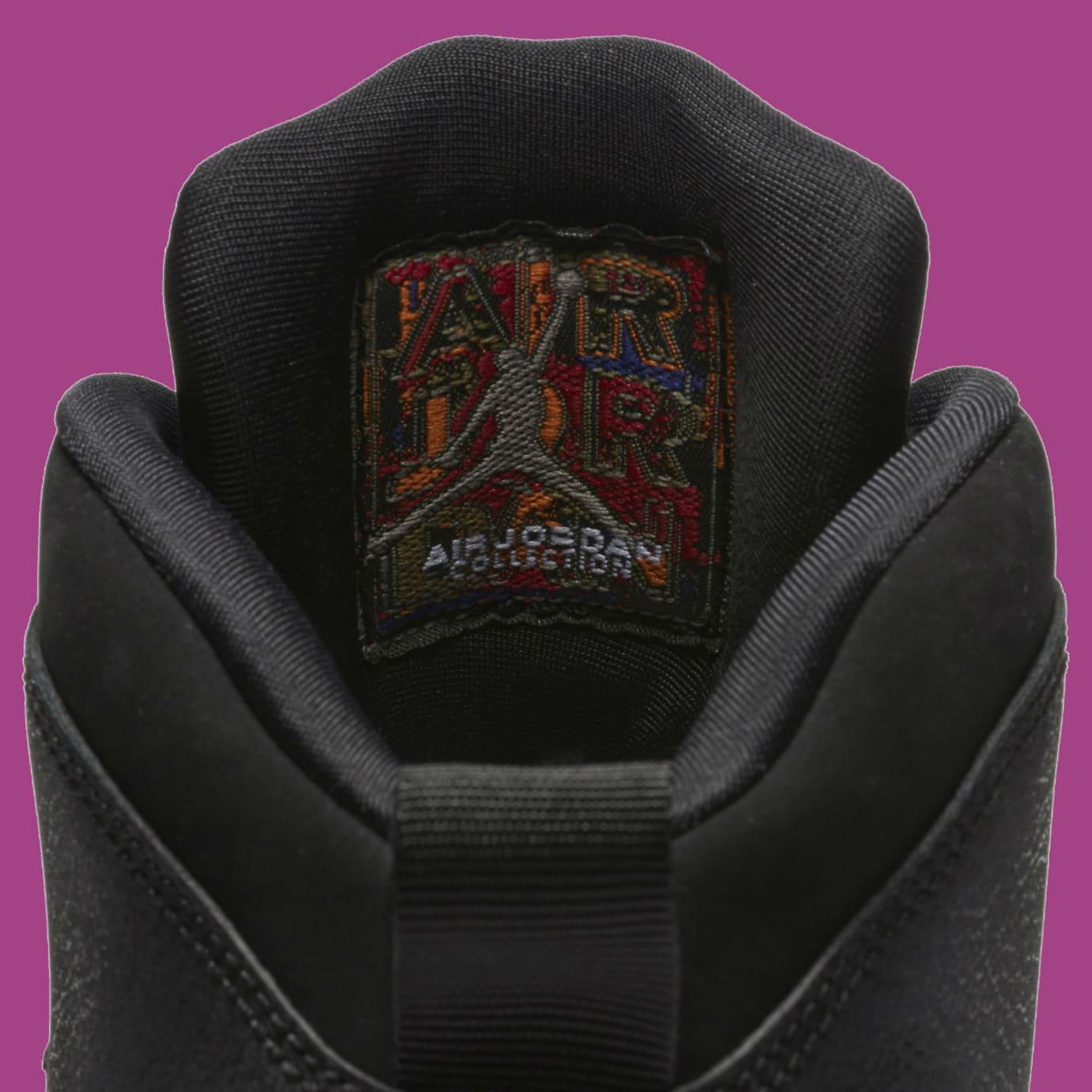 Air Jordan 10 X GS Fuchsia Blast Release Date 487211-017 Tongue