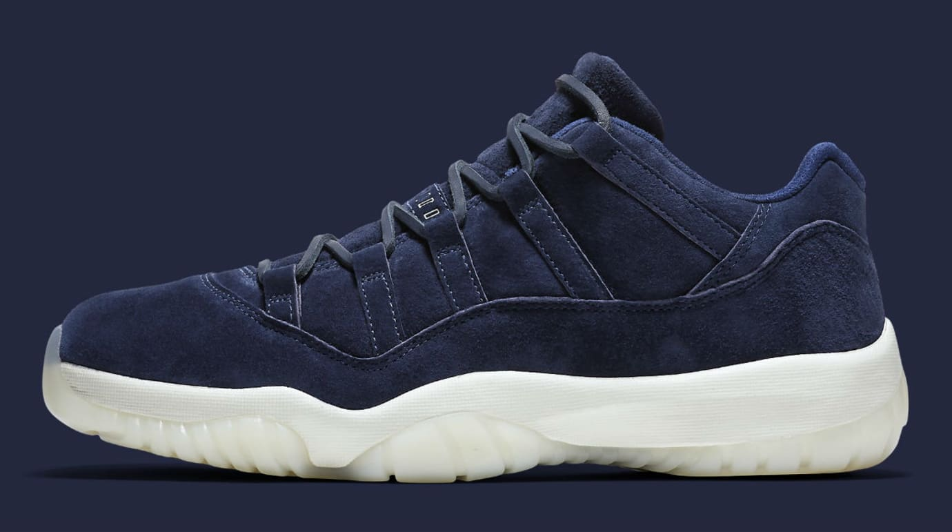 reputable site 84c39 18fa6 Air Jordan 11 XI Low Jeter RE2PECT Release Date AV2187-441 ...