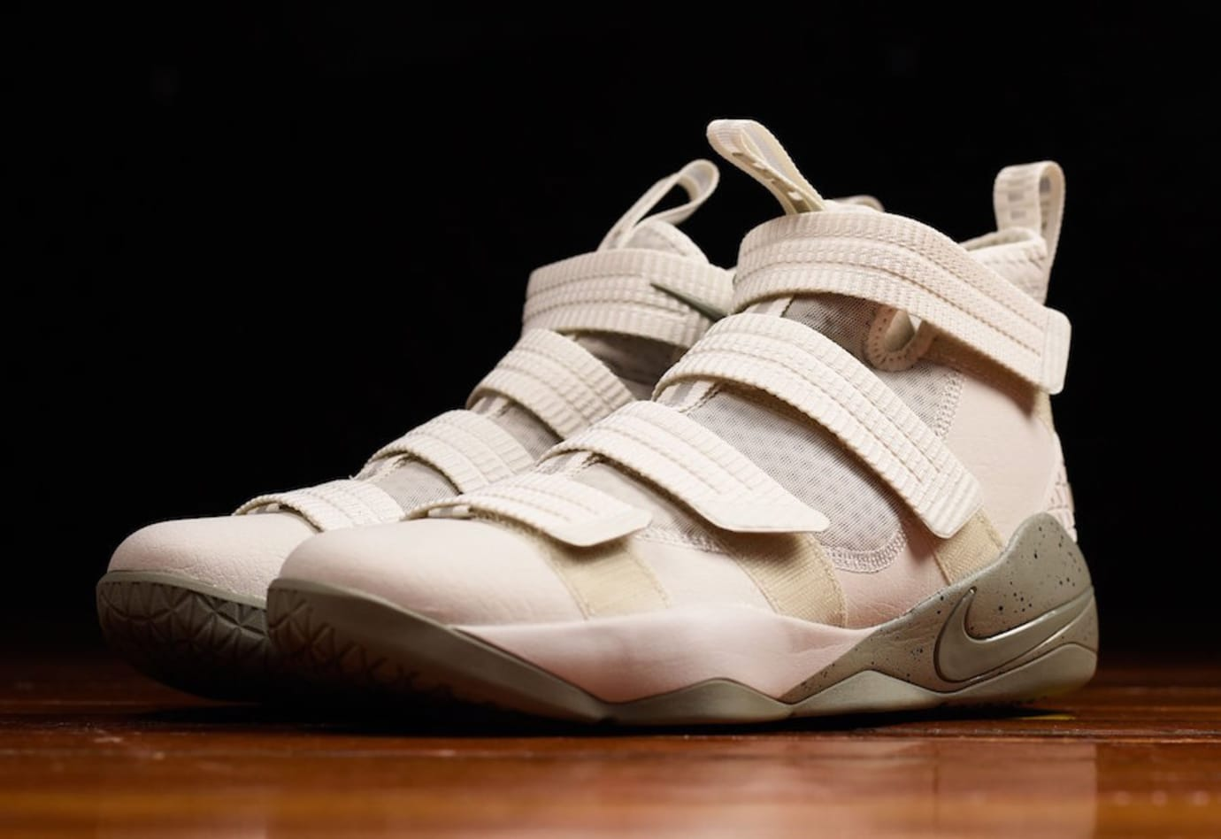 dfab4ac58d9 Nike LeBron Soldier 11 Light Bone Dark Stucco Release Date Front 897646-005