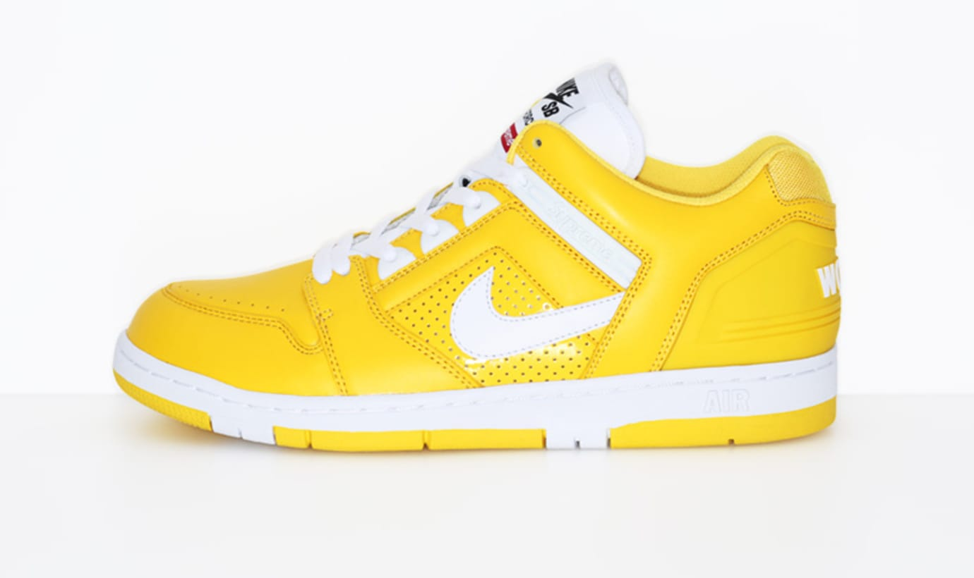 Supreme Nike SB Air Force 2 Yellow