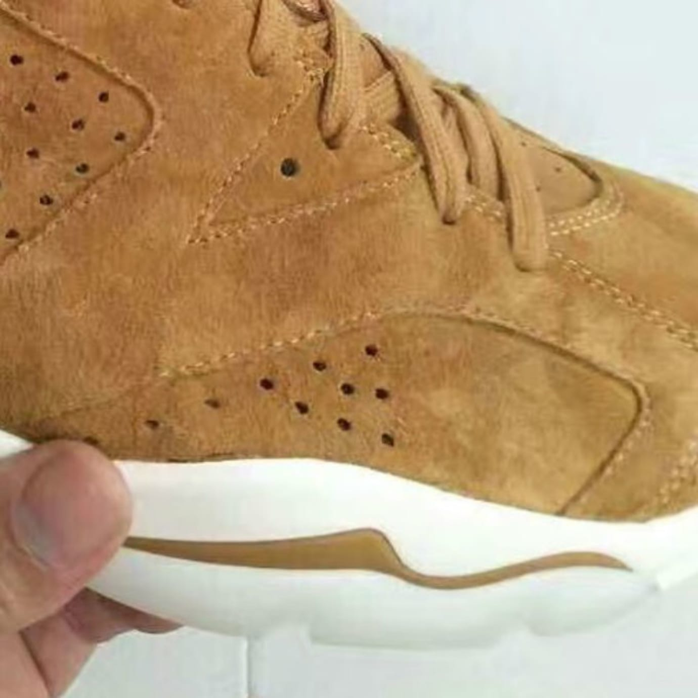 187b5c73b9cdca Air Jordan 6 Golden Harvest Wheat Release Date Forefoot 384664-705