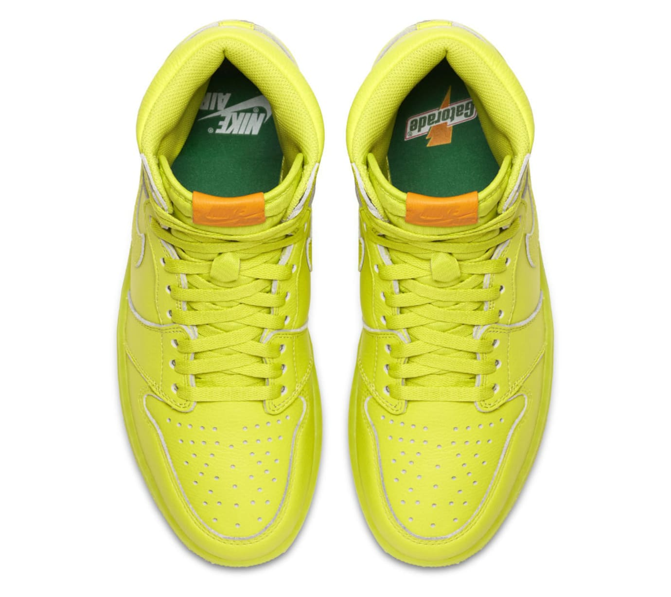 2018 sneakers new collection cheapest Air Jordan 1 Gatorade Cyber Yellow Lime Release Date AJ5997 ...