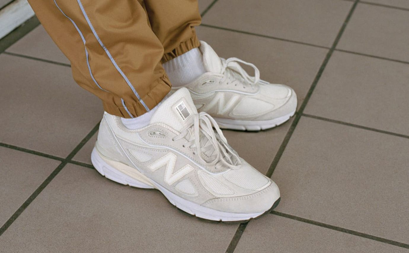 uk availability 65c44 71282 Stussy New Balance 990V4 Cream | Sole Collector