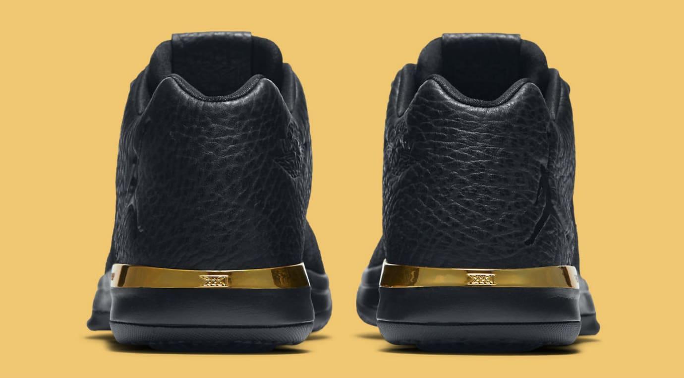 e2b3918f4de72 Air Jordan 31 Low Black Gold Release Date Heel 897564-023