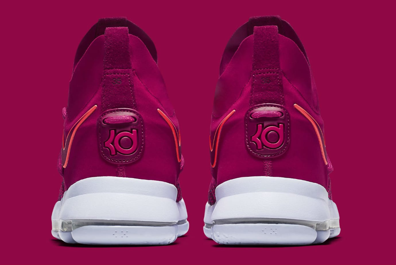 low priced 32085 fb686 Nike KD 9 Elite Racer Pink Release Date Heel 878639-666