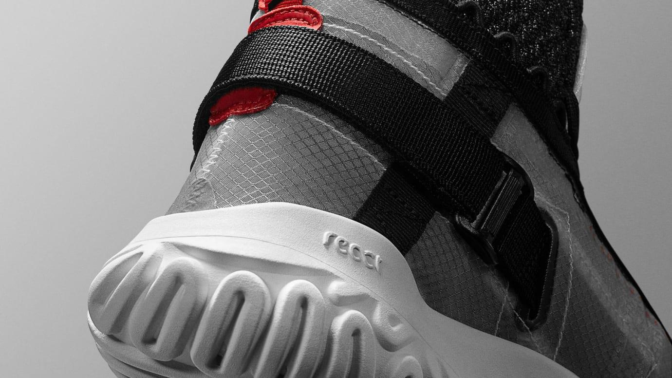 Jordan Apex Utility Black Red Release Date BQ7147-006 Heel