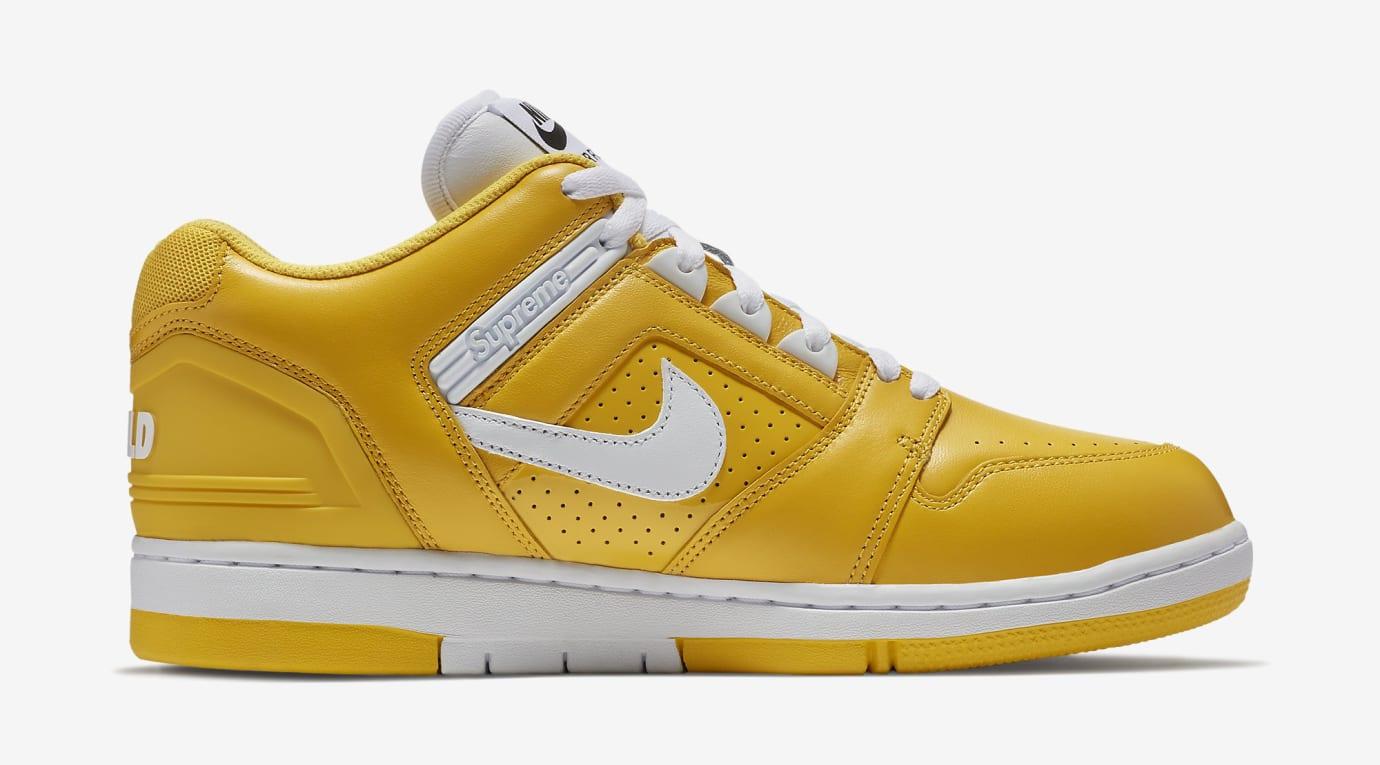 Supreme Nike SB Air Force 2 AA0871-717 Yellow Medial