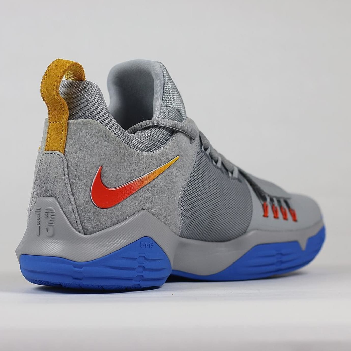 Paul George Nike PG1 Grey OKC Gradient PE Heel