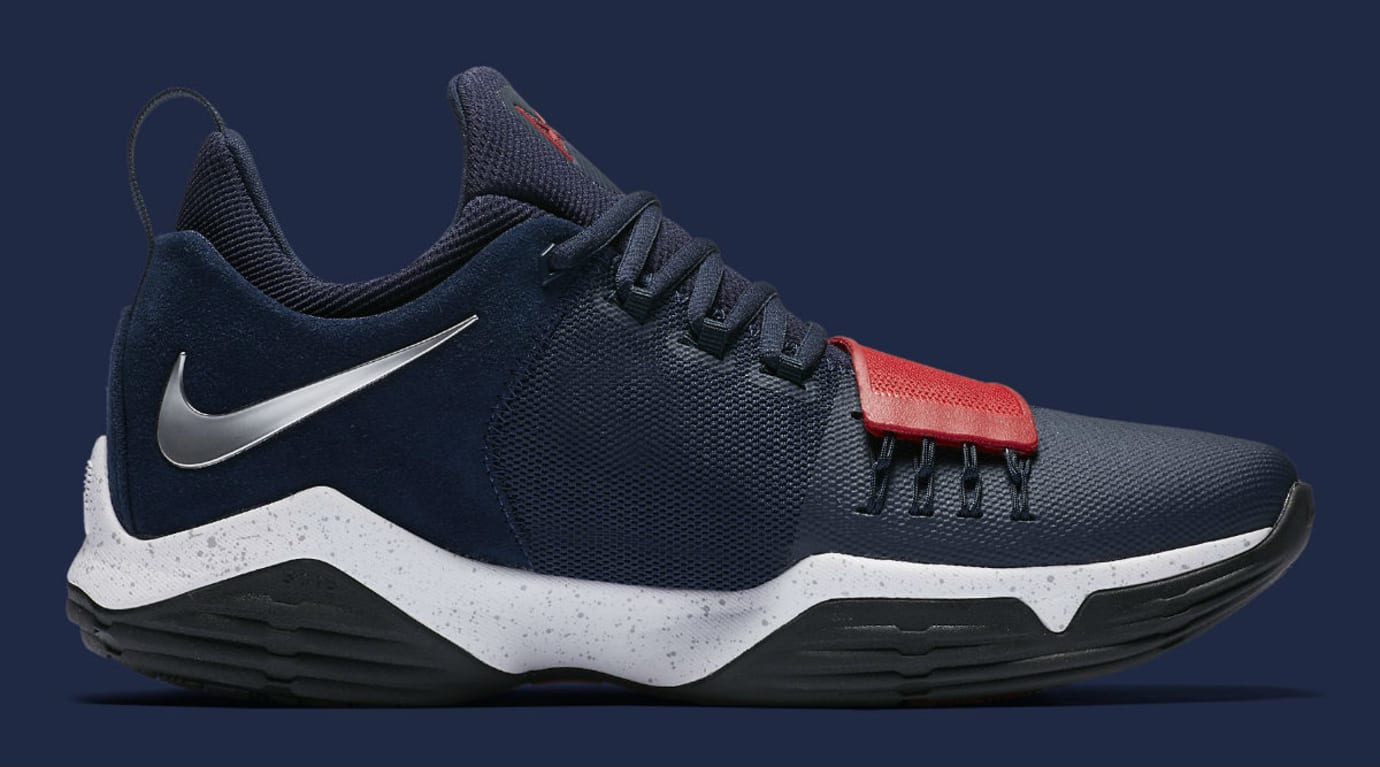 Nike PG1 1 Navy/Red-White Silver Release Date Medial