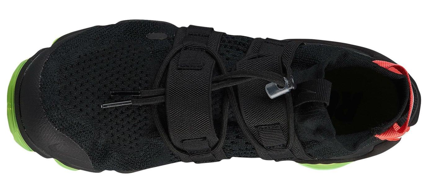 promo code a7e2e 2878a Image via Foot Locker Nike Air VaporMax Flyknit Utility Yeezy Black Volt  Crimson Release Date AH6834-007 Top