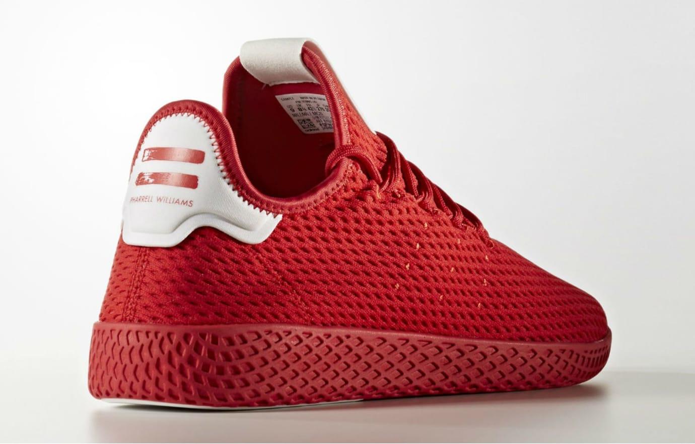 bfe2c5c3d0198 Pharrell x Adidas Tennis Hu Red   Navy Release Date