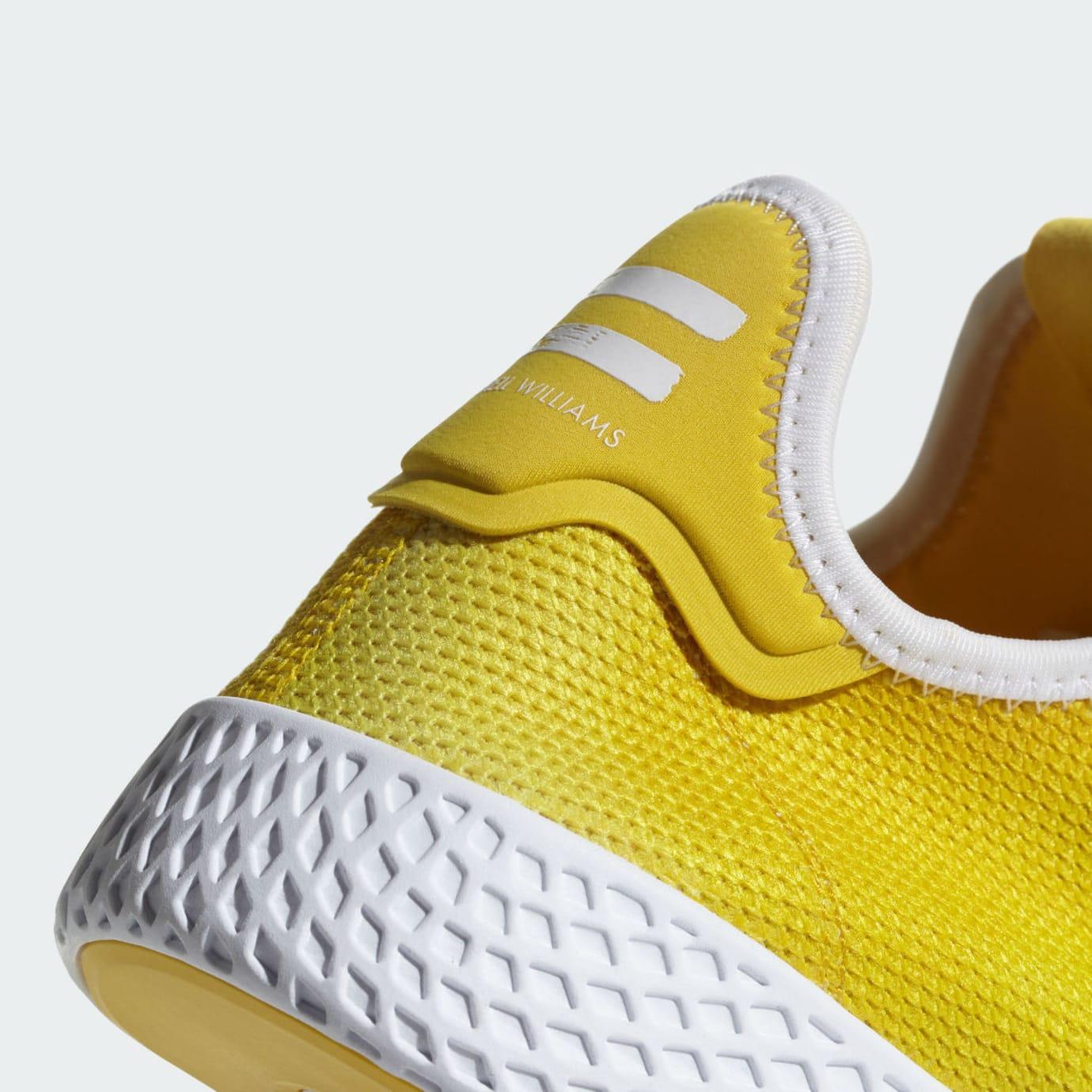 Pharrell x Adidas Tennis Hu Holi Bright Yellow Release Date DA9617 Heel