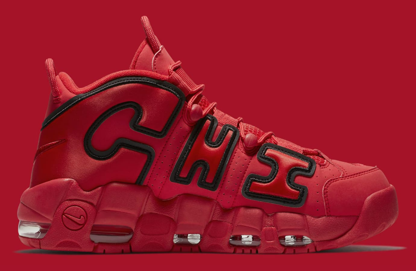 Nike Air More Uptempo QS Chicago Red Release Date Medial AJ3138_600