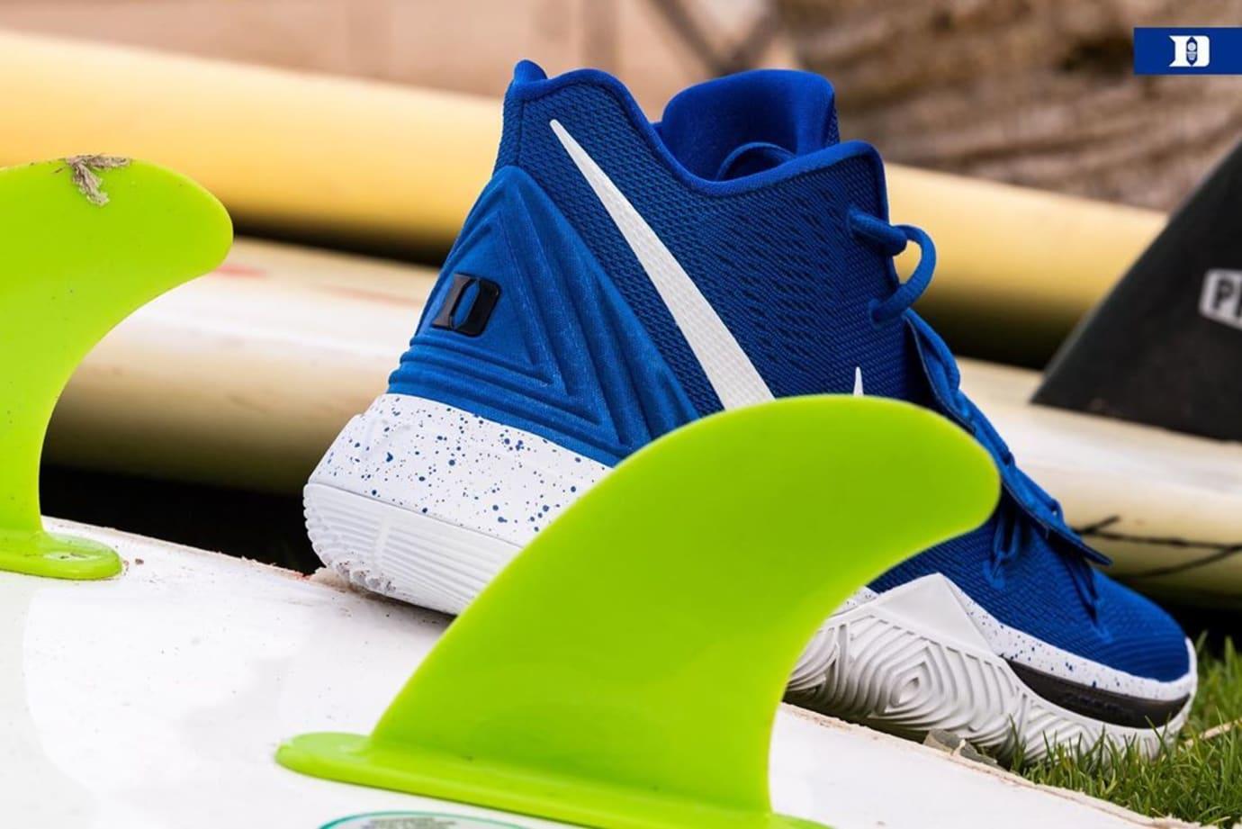 Nike Kyrie 5 'Duke' PE Blue (Heel)
