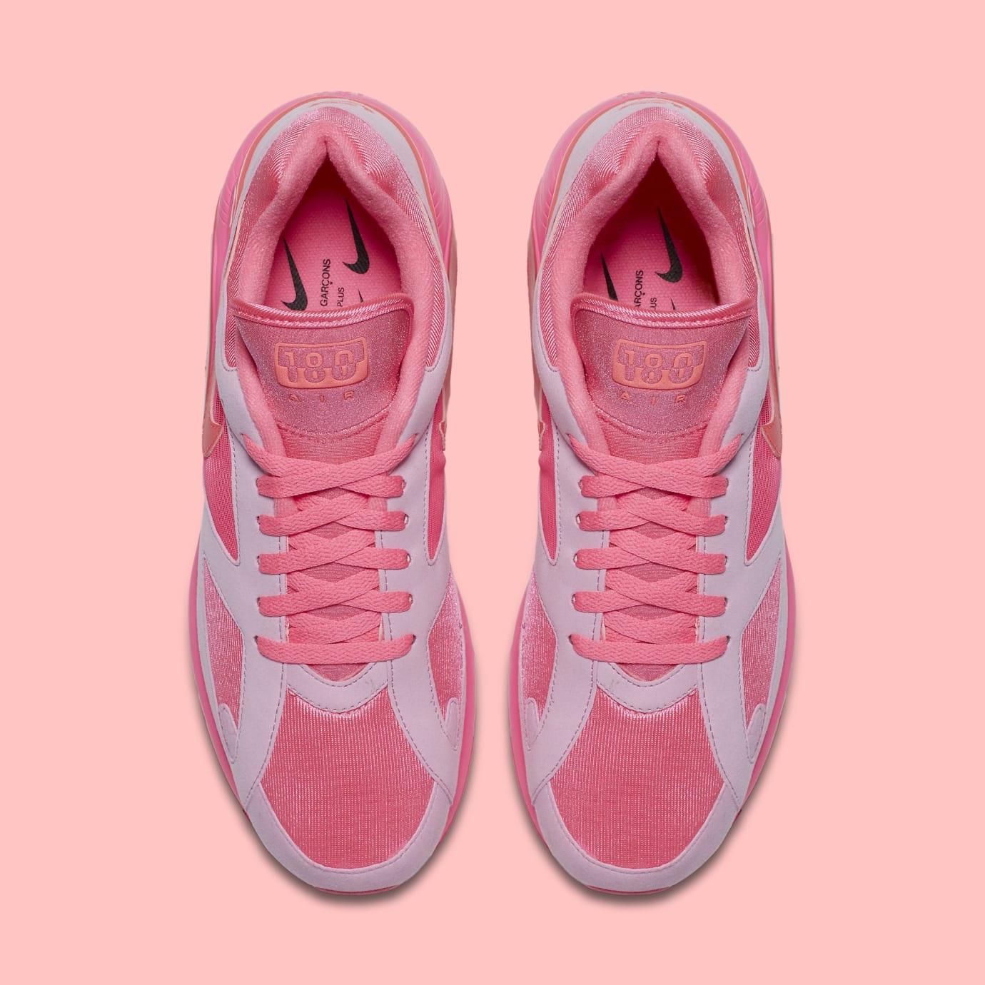 Comme des Garçons x Nike Air Max 180 'Pink' AO4641-602 (Top)