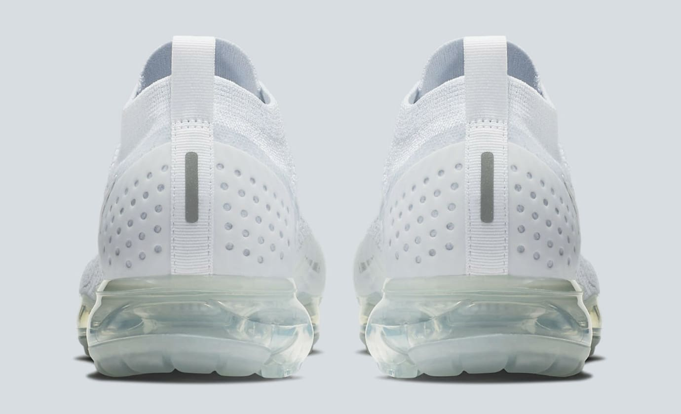 Nike Air VaporMax 2 White Pure Platinum Release Date 942842-100 Heel