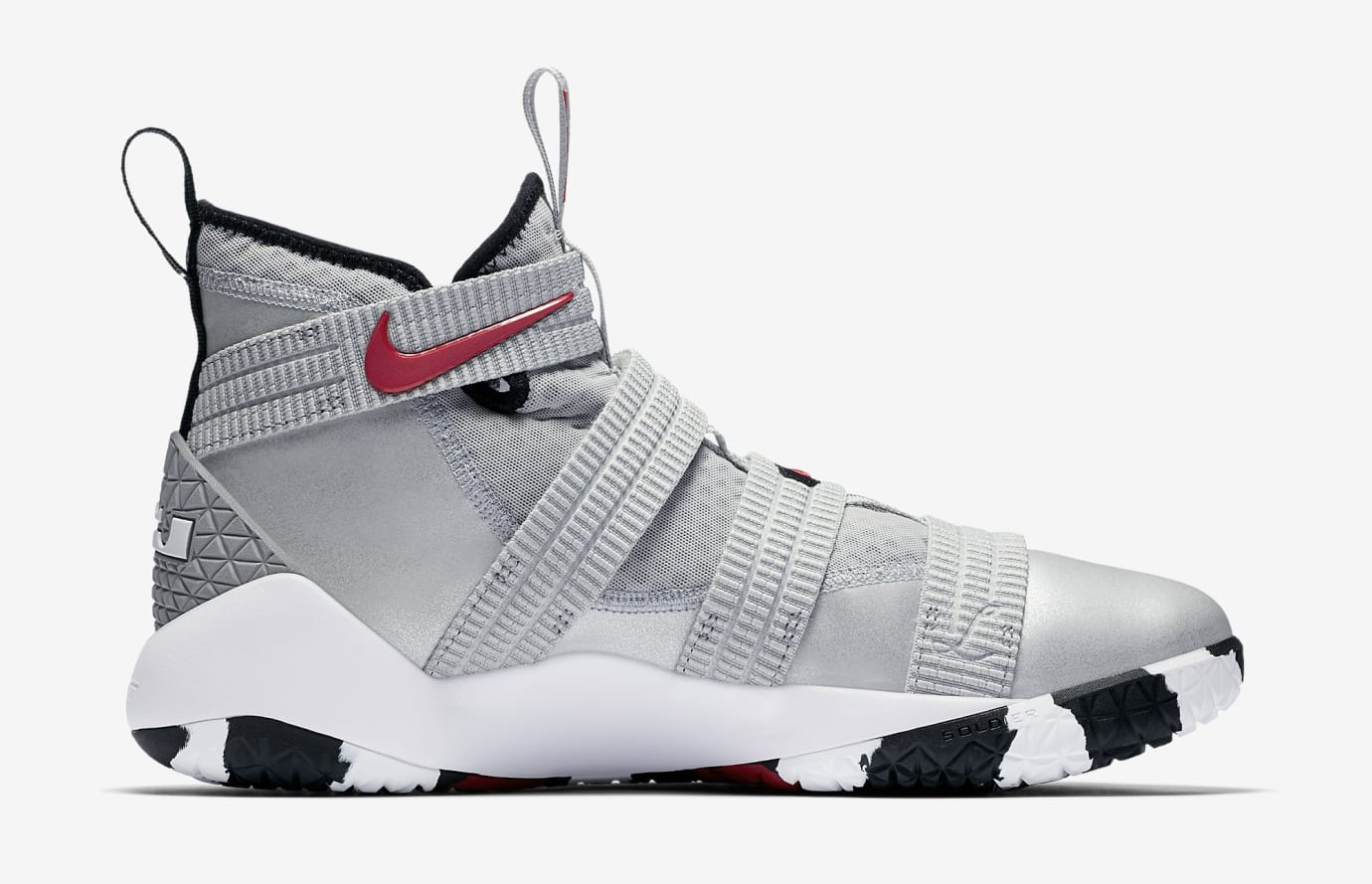 49bbcaa31dd Image via Nike Silver Bullet Nike LeBron Soldier 11 897646-007 Medial