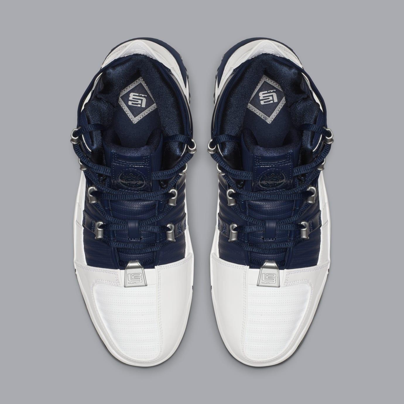 Nike Zoom LeBron 3 'White/Navy Blue/Silver' AO2434-103 (Top)