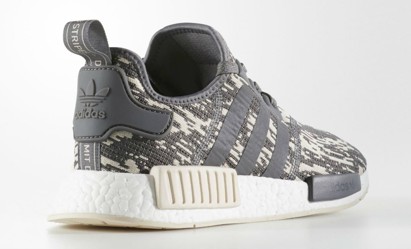 Adidas NMD Grey Linen Camo Release Date Lateral
