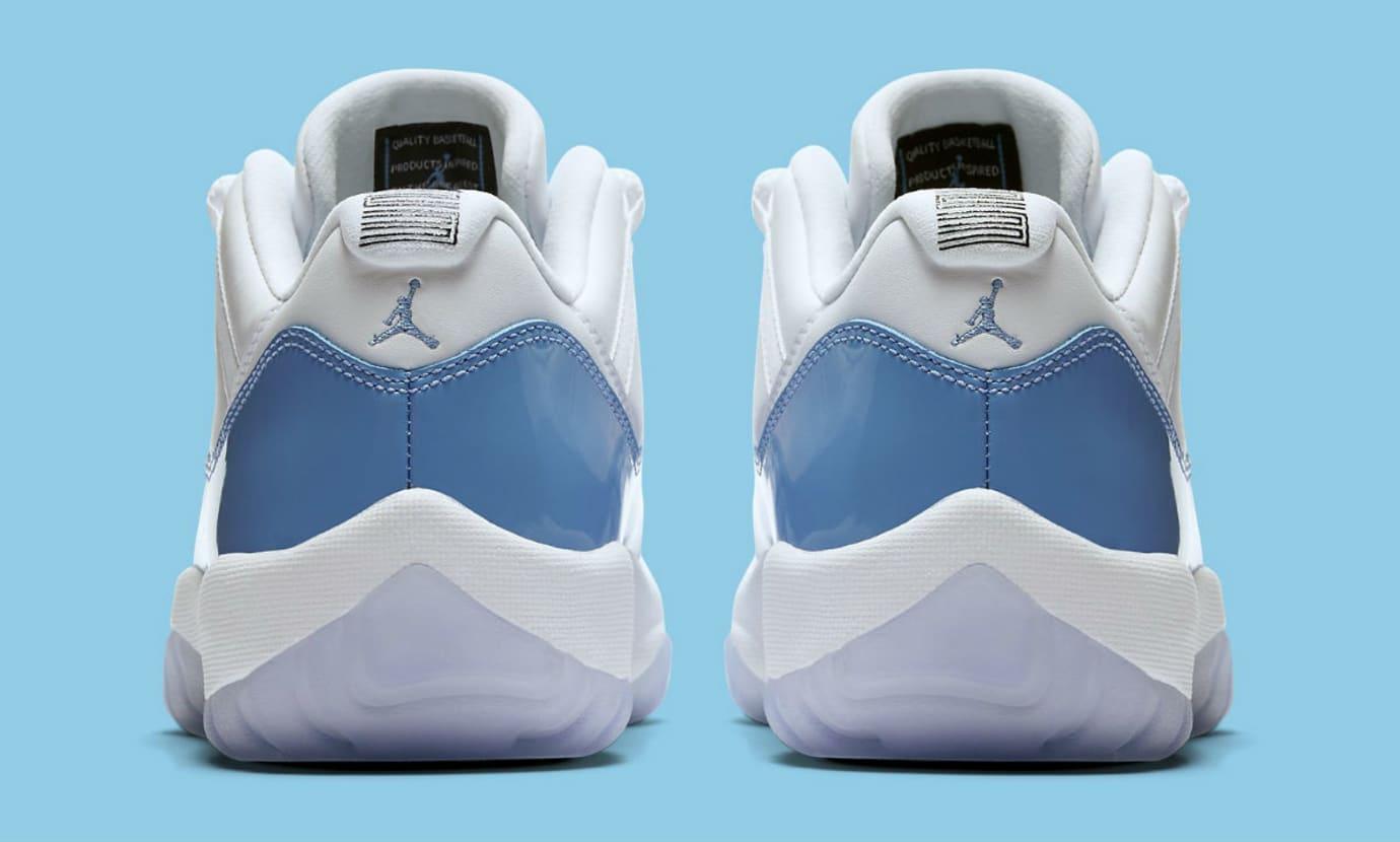 Air Jordan 11 Low UNC University Blue Release Date Heel 528895-106