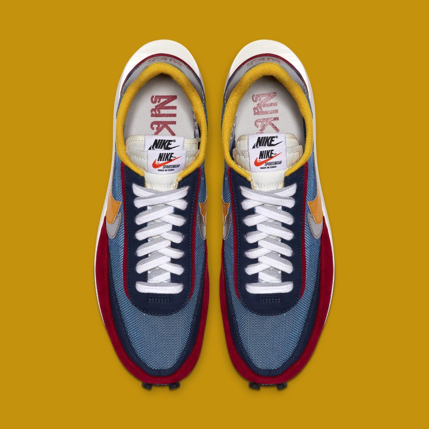 Sacai x Nike LDWaffle 'Varsity Blue/Del Sol/Varsity Red/Black' BV0073-400 (Top)