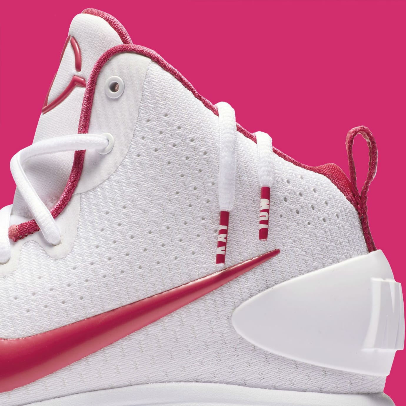 timeless design 513ff 135c8 Nike Hyperdunk 2017 Kay Yow Think Pink Release Date Laces 897631-100