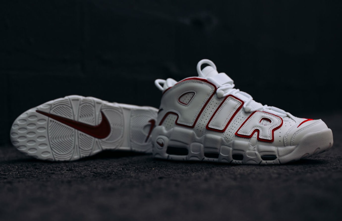 Nike Air More Uptempo Varsity Red Release Date 921948-102 Sole