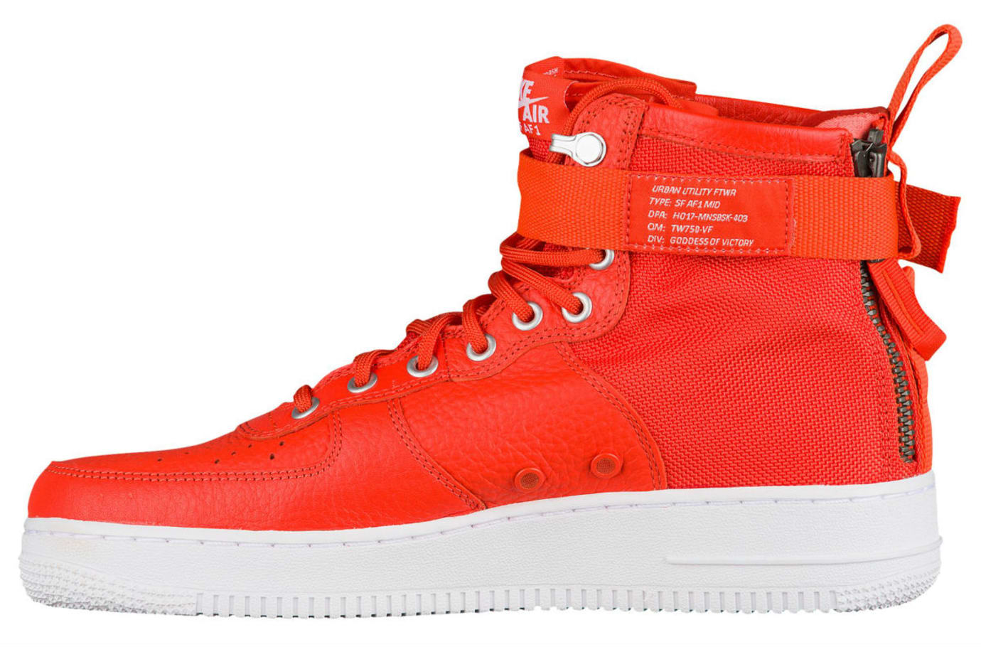 Nike SF Air Force 1 Mid Team Orange Release Date Medial 917753-800