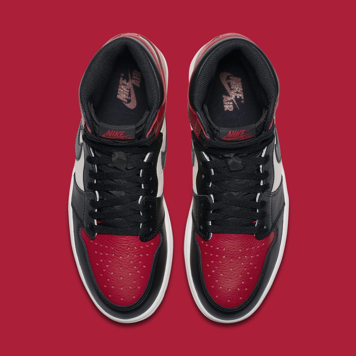 2af477d551d Image via Nike Air Jordan 1  Bred Toe  Gym Red Black-Summit White 555088-