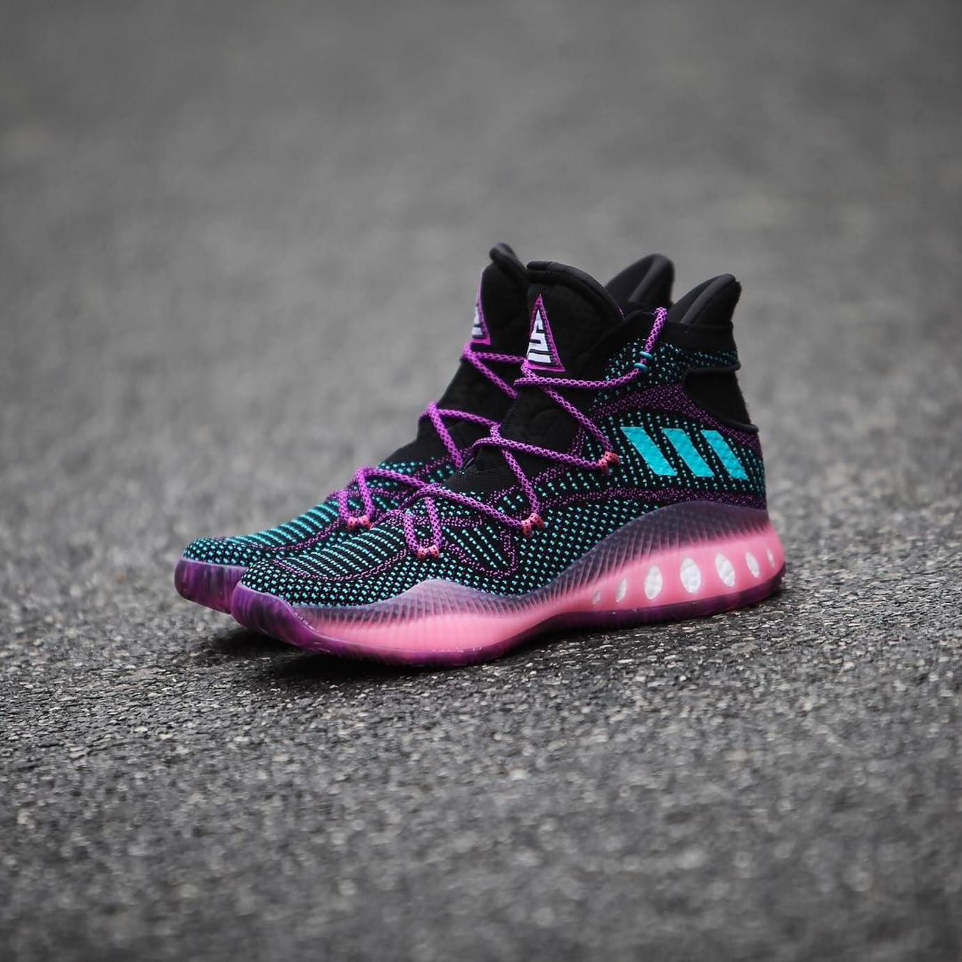 hot sale online 9239e 99dd1 Swaggy P Adidas Crazy Explosive Black Pink PE (2)