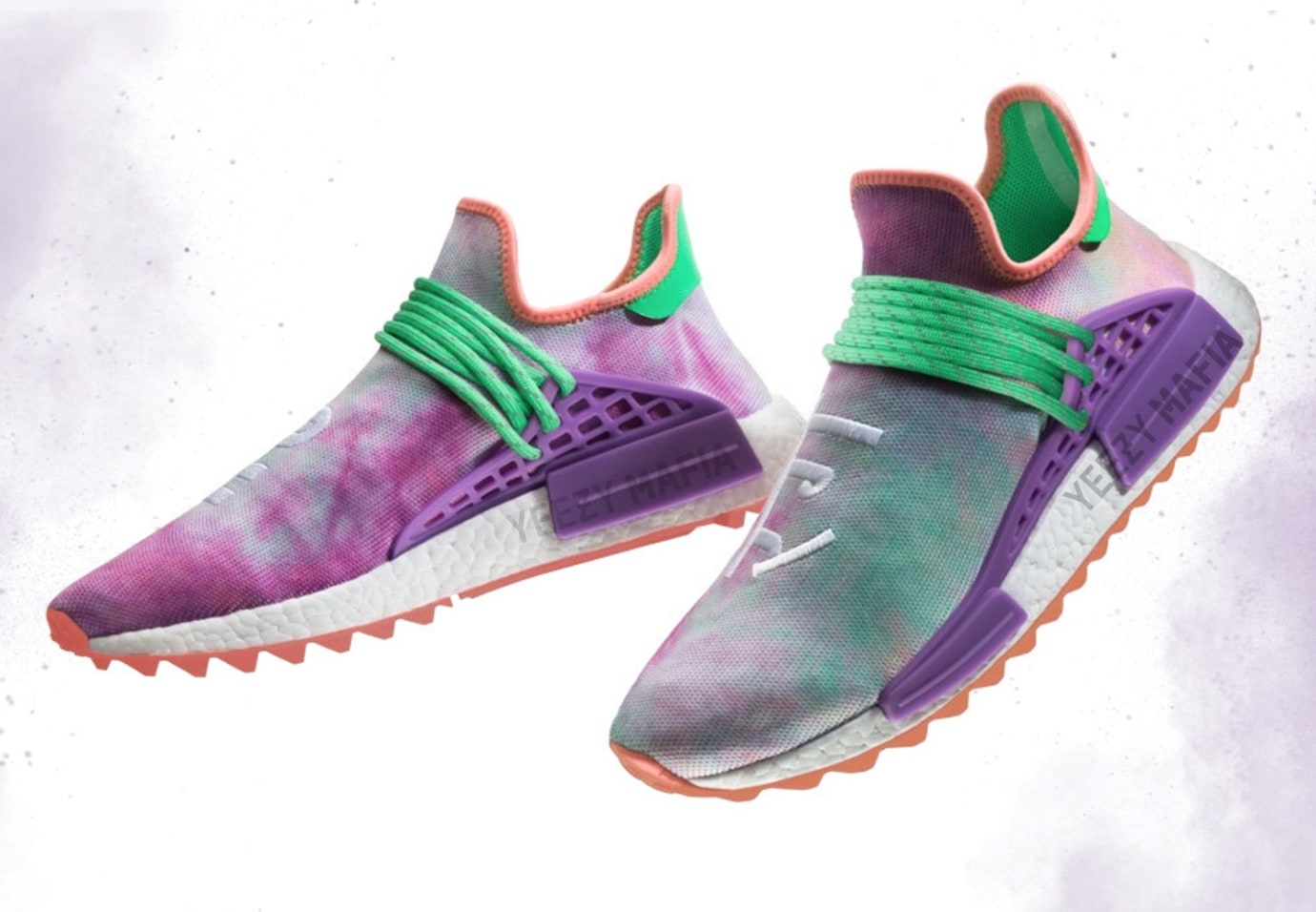 newest 101c6 33a2d Pharrell x Adidas NMD Hu Holi Flash Green Release Date AC7034