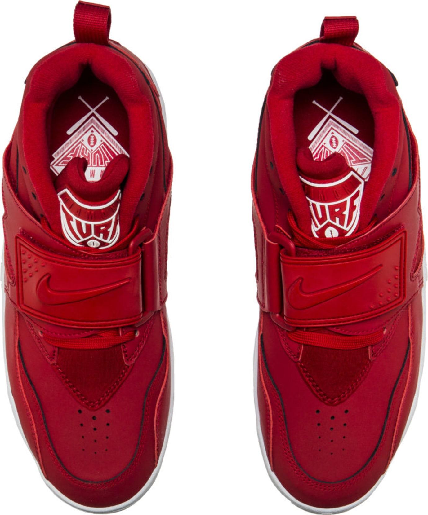 Nike Air Diamond Turf Red White 309434-600 Top
