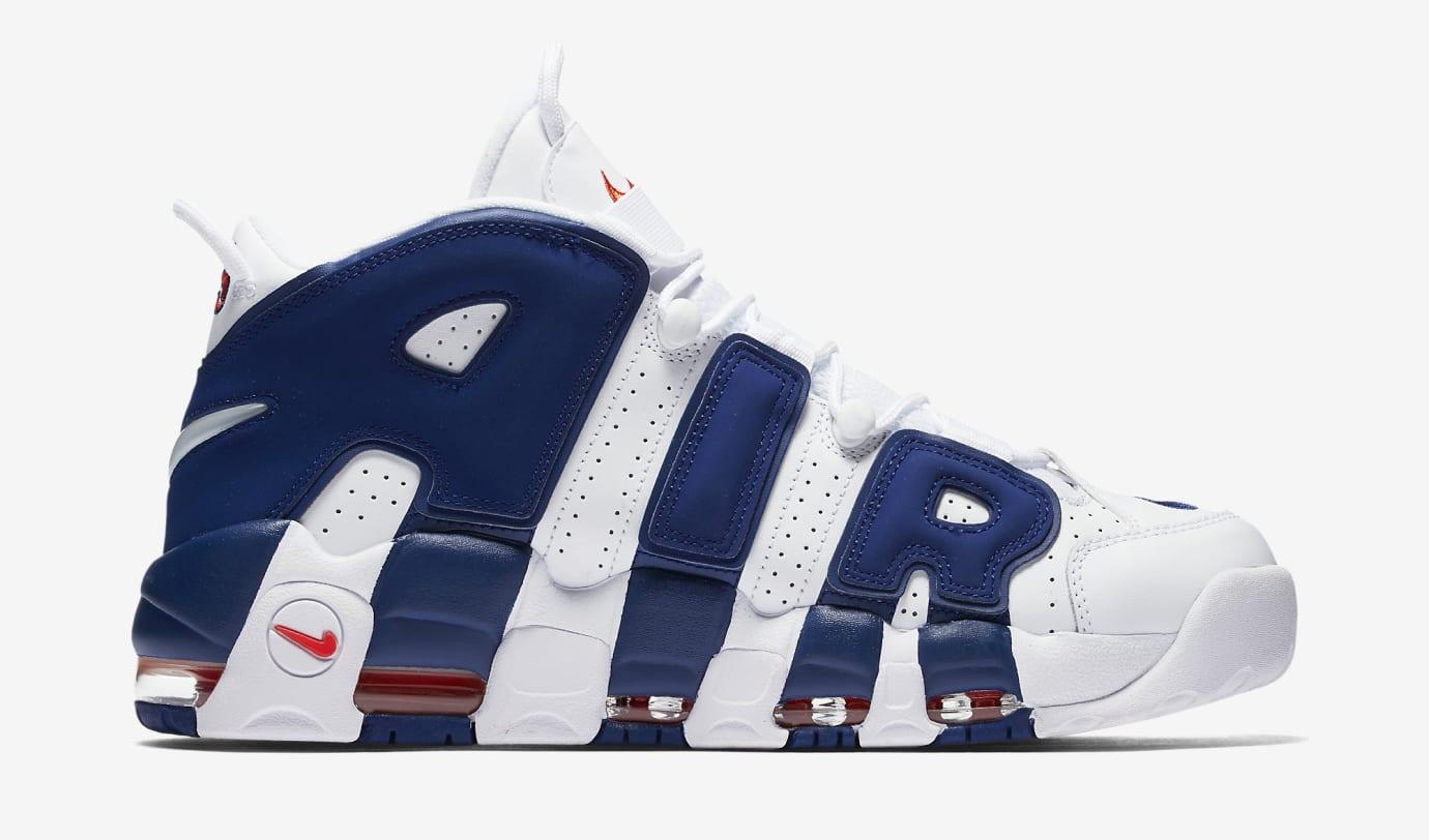 Nike Air More Uptempo Knicks 921948-101 Medial