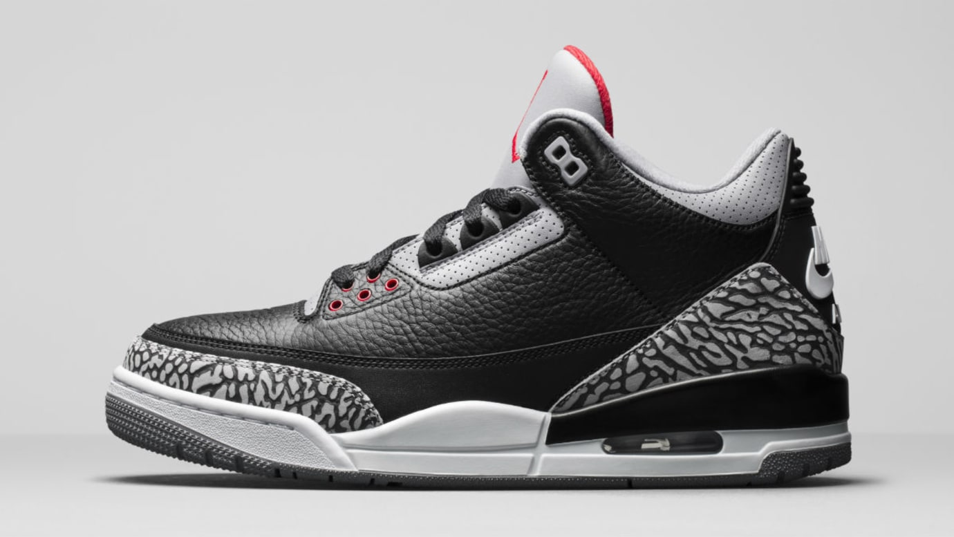 best sneakers b6c7d e2319 Air Jordan 3 III Black Cement Release Date 854262-001 Profile