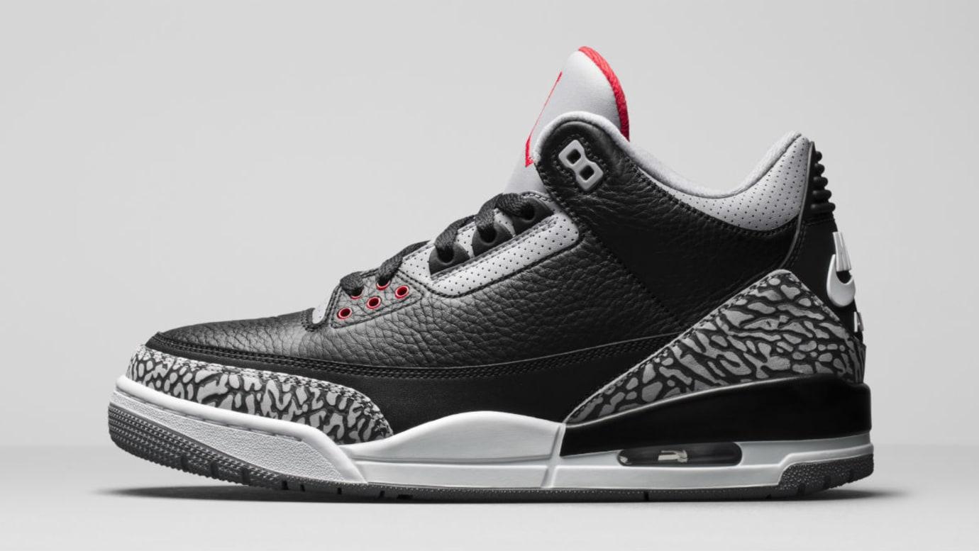 Air Jordan 3 III Black Cement Release Date 854262-001 Profile