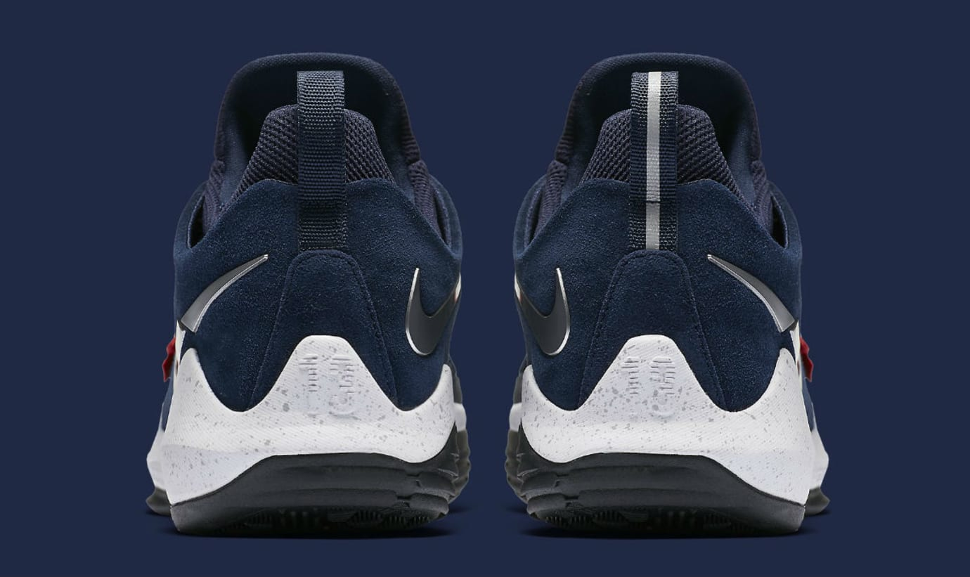 Nike PG1 1 Navy/Red-White Silver Release Date Heel