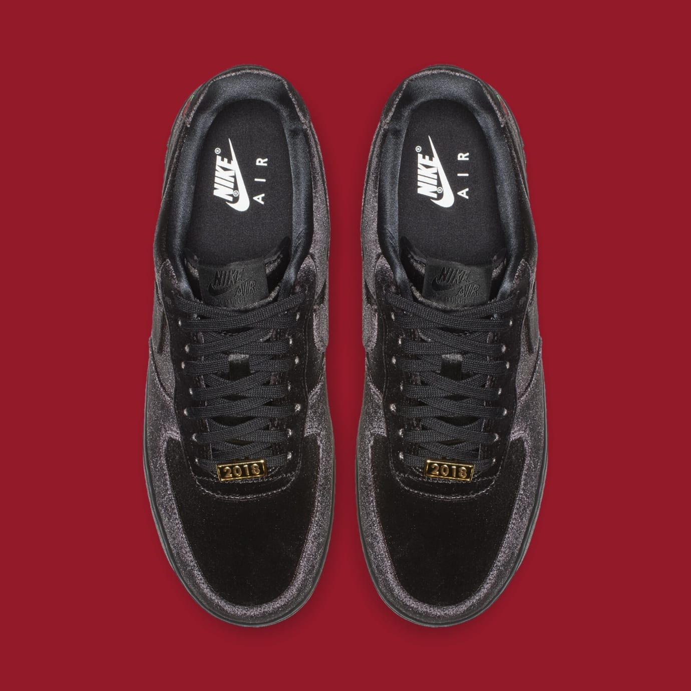 buy online 0199a c2e03 Image via Nike Nike Air Force 1 Low  Satin  AH8462-003 (Top)