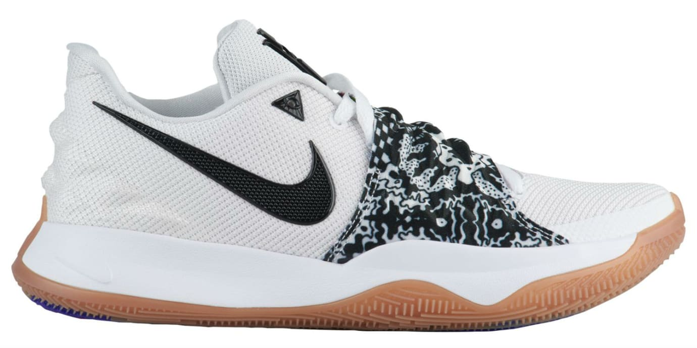 timeless design b1a0d 1636f Nike Kyrie 4 Low White Black AO8979-100 Profile