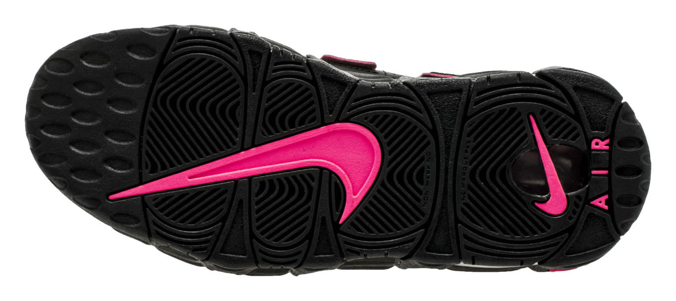 Nike Air More Uptempo Black Pink 415082-003 Sole