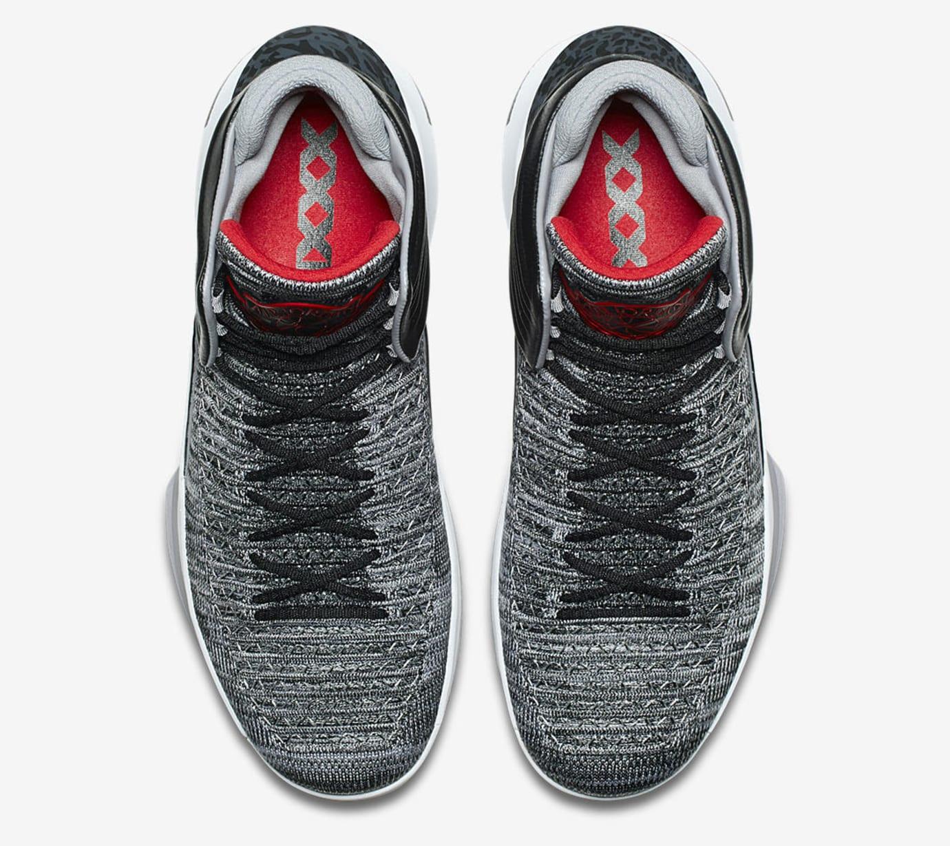 Air Jordan 32 MVP Black Cement AA1253-002 Top