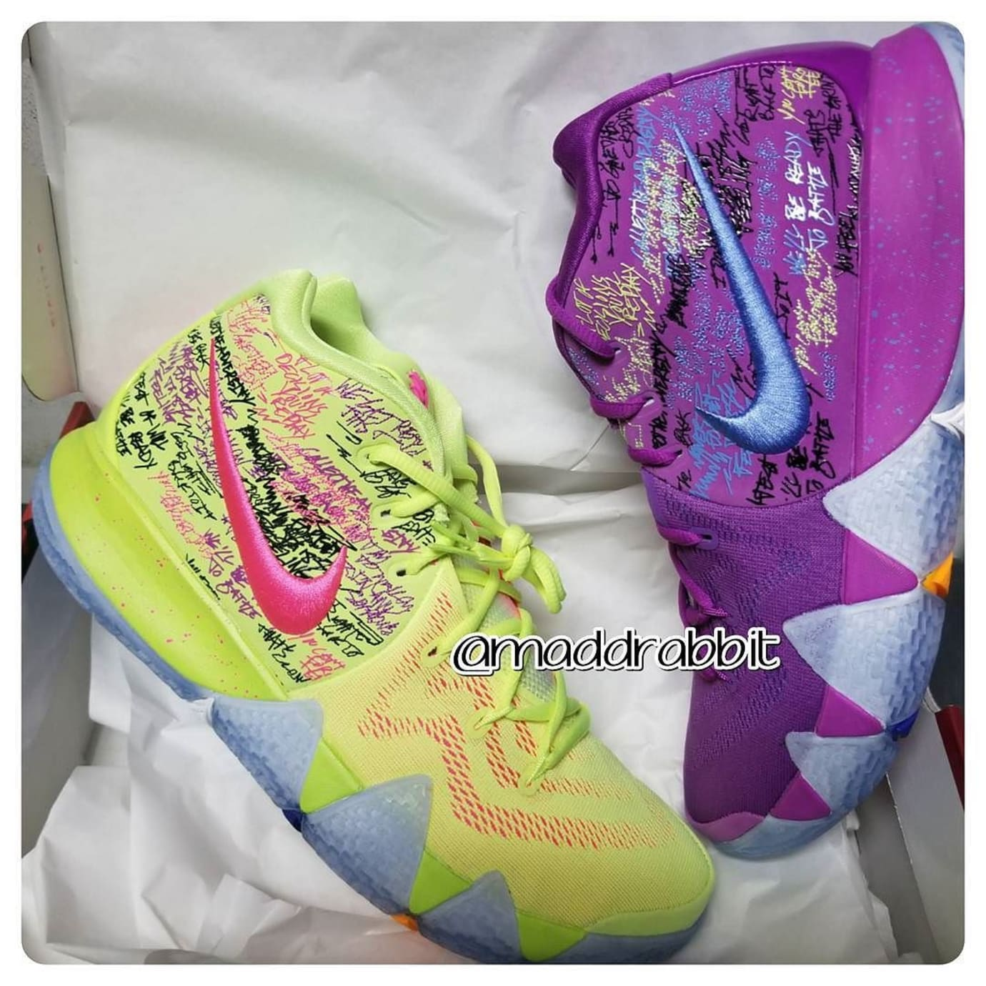 new concept 86e26 af999 Nike Kyrie 4 Confetti Multicolor Yellow Purple Release Date 943806-900