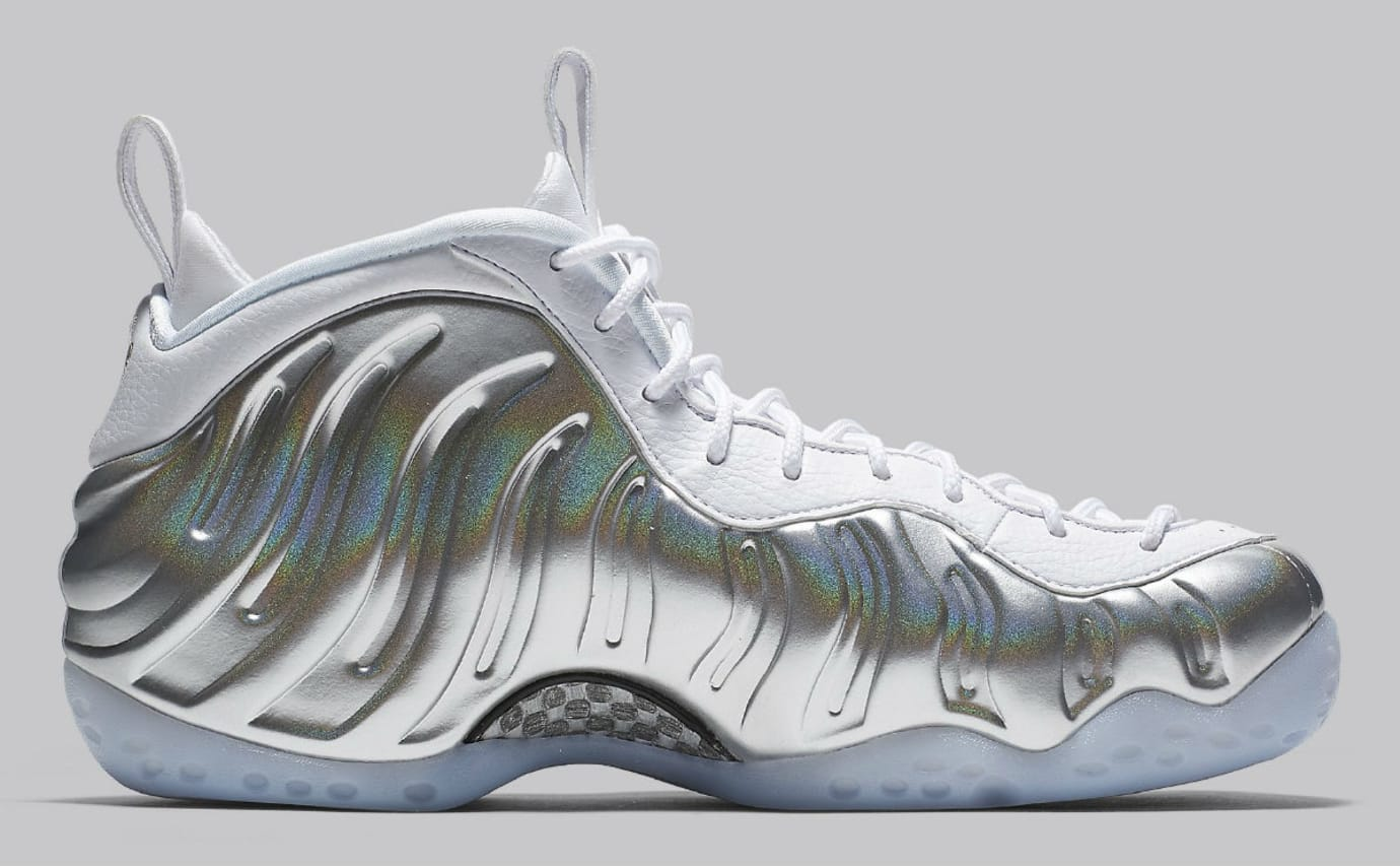122deced7d09c Nike Women s Nike Air Foamposite One Chrome Release Date AA3963-100 Medial