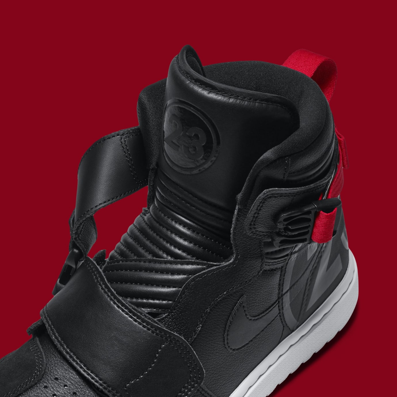 Air Jordan 1 Motorsports 'Black/Red' AT3146-001 (Detail)