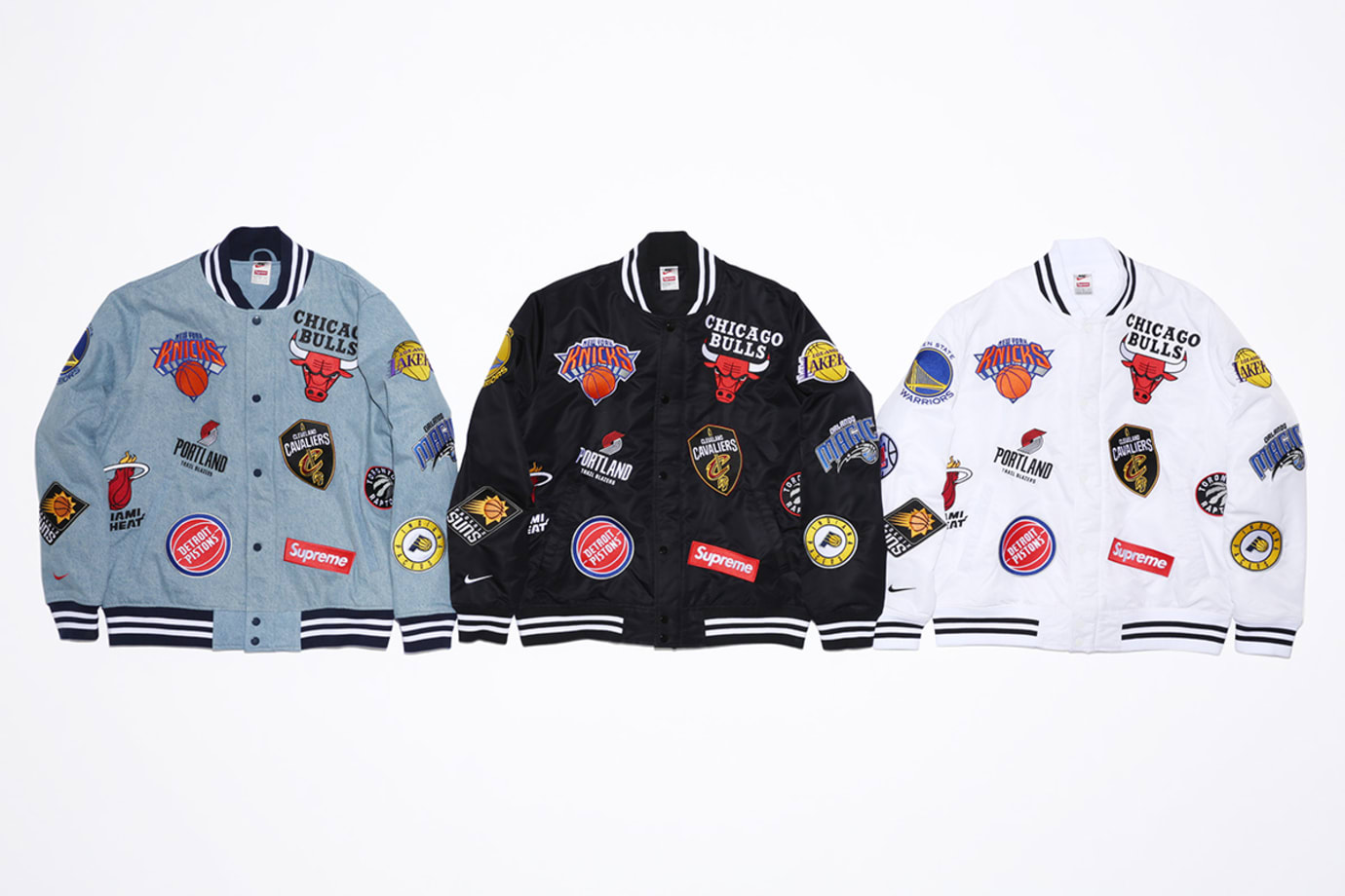 Supreme x Nike x NBA Warm-Up Jackets (Front)